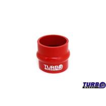 Szilikon rezgéscsillapító összekötő, egyenes TurboWorks Piros 76mm